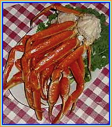 A plate of Alaskan snow crab clusters